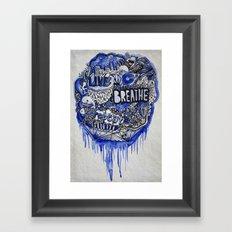 Live, Breathe, Repeat Framed Art Print