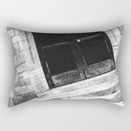 Black And White Doorway Rectangular Pillow
