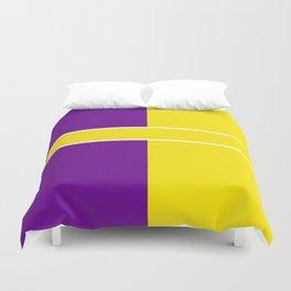 Team Colors 6....Yellow,purple Duvet Cover