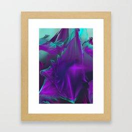 JaSet Design Purples and Blue Framed Art Print