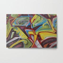 Graffiti Print Closeup Metal Print