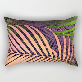 TROPICAL COLORFUL POPPY LEAVES Rectangular Pillow