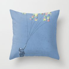 The Lightest Elephant Throw Pillow