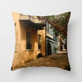 Charming Charleston Street Throw Pillow