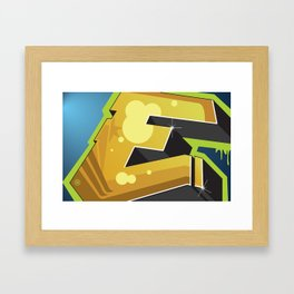 BlockBuster E Framed Art Print