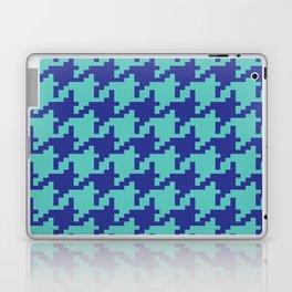 Houndstooth - Blue & Turquoise Laptop & iPad Skin