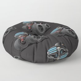Monster Pickup Truck Cartoon Floor Pillow