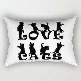 Love Cats #1 Rectangular Pillow