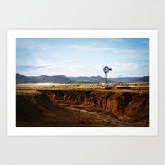 Western Windmill Art Print