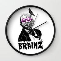 political Wall Clocks featuring political zombie theme by Krzysztof Kaluszka
