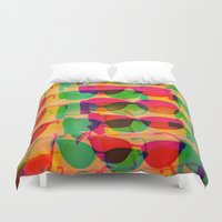 sunglasses Duvet Covers featuring Sunglasses by Kaos and Kookies