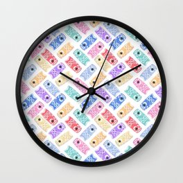 cute koi nobori pattern Wall Clock