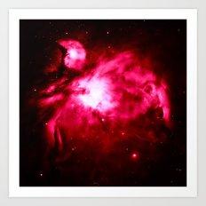 Orion NebULA Magenta Pink Art Print