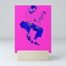 Society6 1000 Elements Of Louis - Louie - Daniel Armstrong Satchmo - Satch - Pops - Pop Sketch-Art Mini Art Print