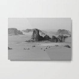 Black and White Algeria desert Metal Print