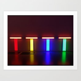 London Neon Art Art Print