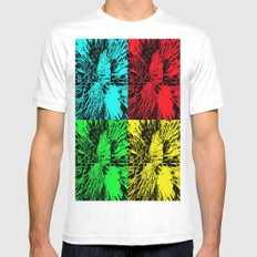 Columns of Pop Art Mens Fitted Tee White MEDIUM