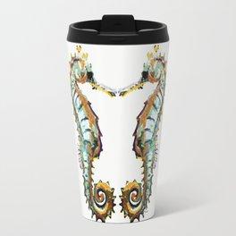Seahorses - colorful sea love Travel Mug