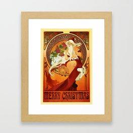 Mucha Santa Framed Art Print