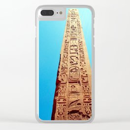 Ancient Egyptian Obelisk, Luxor, Egypt Clear iPhone Case