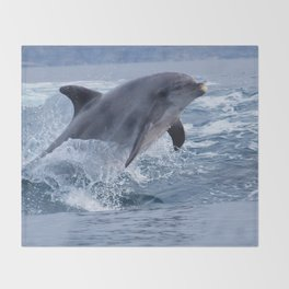 Bottlenose dolphin Throw Blanket