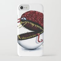 pokeball iPhone & iPod Cases featuring Evil pokeball  by Capadochio