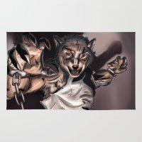 werewolf Area & Throw Rugs featuring Werewolf by Craig Holland Illustration