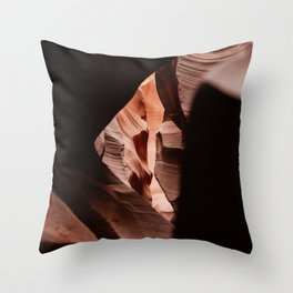 See trough - Antelope Canyon - USA Throw Pillow