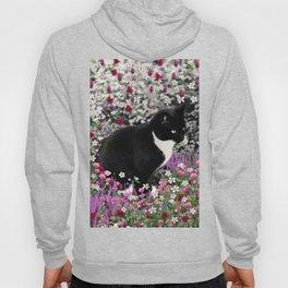 Freckles in Flowers II - Tuxedo Kitty Cat Hoody