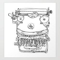 Typewriter Face Art Print