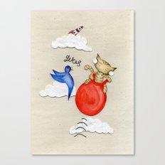 Bouncy Kitteh! Canvas Print