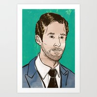ryan gosling Art Prints featuring Ryan Gosling by Daniel Fishel