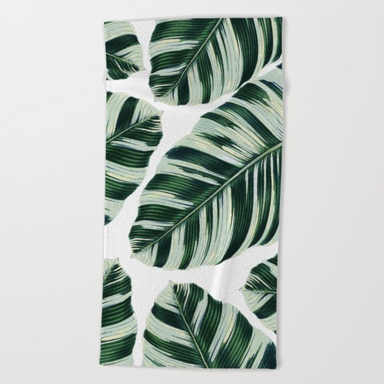 Tropical Foliage #society6 #buyart #decor Beach Towel