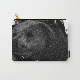 Bear Grizzly Black Carry-All Pouch