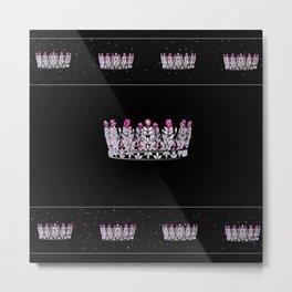 Pink Diamond Crown Metal Print