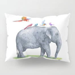All Aboard The Exotic Elephant Taxi Service Pillow Sham