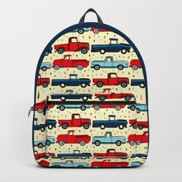 Winter Vintage Trucks Backpack