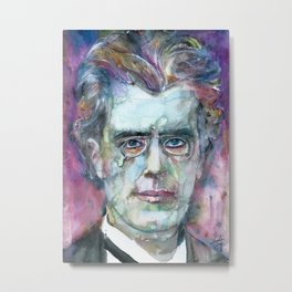 GUSTAV MAHLER - watercolor portrait.4 Metal Print