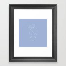 Contours: Jay (Line) Framed Art Print