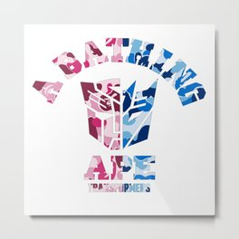 Bape Transformers Metal Print