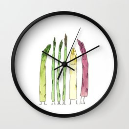 Asparaguys Wall Clock