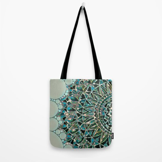 Bloom Mandala in Ocean Tote Bag
