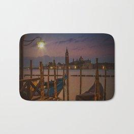 VENICE Gondolas during sunrise Bath Mat