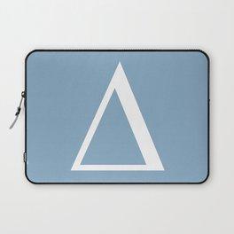Delta letter sign on placid blue background Laptop Sleeve