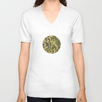 military V-neck T-shirts featuring Military Pattern by Crazy Thoom
