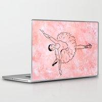 ballet Laptop & iPad Skins featuring Ballet  (Ballet dancer in arabesque wearing a tutu) by Janin Wise