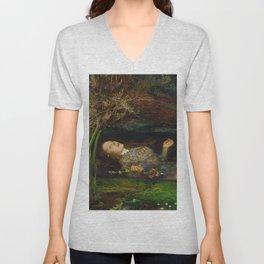 John Everett Millais - Ophelia Unisex V-Neck