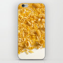 Group of Pasta on White iPhone Skin