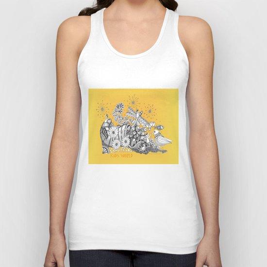 Kids World of Sunshine a Zentangle Illustration Unisex Tank Top