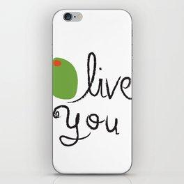 Olive You. iPhone Skin